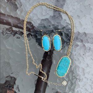 Kendra Scott Elle necklace and earring bundle